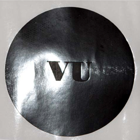 VU - Round Sticker - Black
