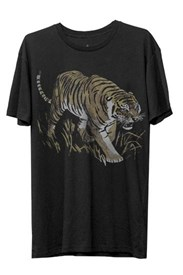 I AM NONE Tiger T Shirt  - Black
