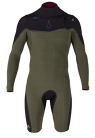 Agent Eighteen Wetsuits - V7+ 202mm L/S Springsuit - Black/ Ivy - Summer 2014/15 Range