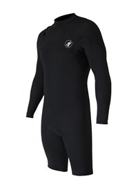 ZION WETSUITS Cortez 2/2mm Zipperless L/S Springsuit - Black - Summer 2015/16 Range