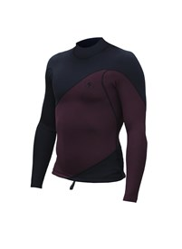 ZION WETSUITS Wesley 1mm Long Sleeve Vest - Plum/ Black - Summer 2016/17 Range