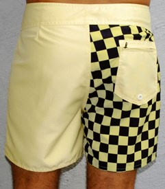 GRAND FLAVOUR  Checkmate Short Boardshorts - Yellow