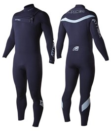 ATTICA WETSUITS ALPHA INFERNO GBS 3/2mm STEAMER BLACK/ SILVER- 2014 Winter