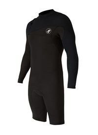 ZION WETSUITS Cortez 2/2mm Zipperless L/S Springsuit - Chocolate/ Black - Summer 2015/16 Range