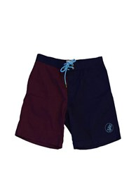 ZION WETSUITS Shred Stretch Boardshorts - Navy/ Burgundy