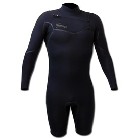 GYROLL WETSUITS Primus 2/2mm Chest Zip GBS L/S Springsuit  - Black - 2015/16 Model