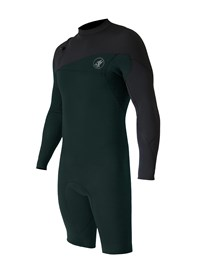 ZION WETSUITS Cortez 2/2mm Zipperless L/S Springsuit - Forest Green/ Graphite - Summer 2015/16 Range