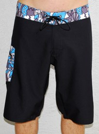 GRAND FLAVOUR Wacky Long Boardshorts - Black