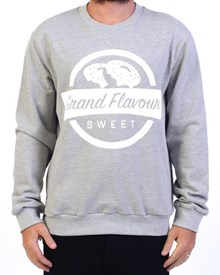 GRAND FLAVOUR Sweet Treat Crew Neck - Grey