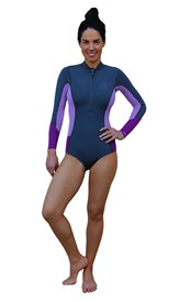 REEFLEX WETSUITS Sophie Jayne Ladies 1.5mm Bikini Cut Long Sleeve Springsuit - Romance