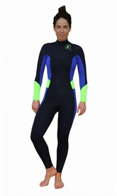 REEFLEX WETSUITS Lilly Retro Ladies 4/3mm Chest Zip Steamer