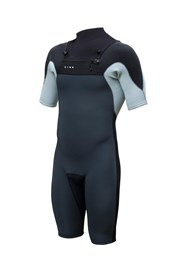ZION WETSUITS Vault 2/2mm Chest Zip Sealed Springsuit - Black/ Graphite/ Silver - Summer 2016/17 Range