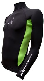 POD Rash Guard Pro Series Black W Lime Green Panel