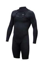 ZION WETSUITS Vault 2/2mm Chest Zip L/S Springsuit - Black - Summer 2017/18 Range