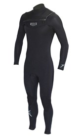 REEFLEX WETSUITS Drifter 3/2mm GBS Chest Zip Steamer - Black
