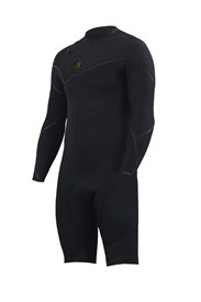 ZION WETSUITS Cortez 2/2mm Zipperless Sealed L/S Springsuit - Black - Summer 2017/18 Range