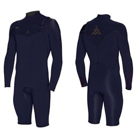 ZION WETSUITS Vault 2/2mm Sealed Chest Zip L/S Springsuit - Nightshade - Summer 2014/15 Range