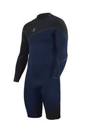 ZION WETSUITS Cortez 2/2mm Zipperless Sealed L/S Springsuit - Navy/ Black - Summer 2016/17 Range