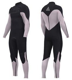 ZION WETSUITS Vault 3/2mm Liquid S-Sealed Chest Zip Steamer - Black/ White - 2nd Winter 2017 Range