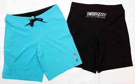 Turbo Bodyboards Stretch Boardshorts - Blue