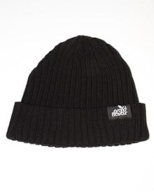 GRAND FLAVOUR Corrugated Beanie -  Black