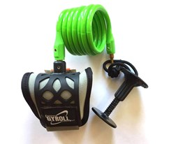 GYROLL Wrist Leash Green Coil/ Black Cuff