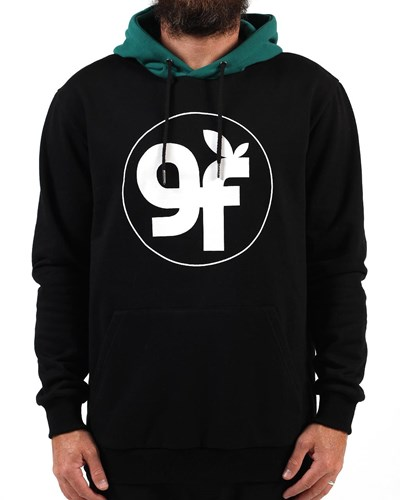 GRAND FLAVOUR Live Action Hoody - Black/ Green