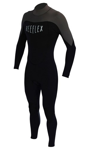 REEFLEX WETSUITS 3/2mm Back Zip Steamer - Black/ Charcoal
