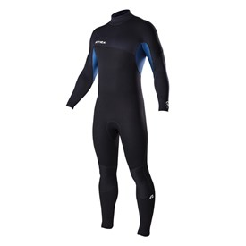 ATTICA Wetsuits - Delta Flatlock 3/2mm Steamer - Black/Iodine Blue - 2017 Winter