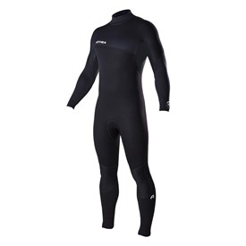ATTICA Wetsuits - Delta Flatlock 3/2mm Steamer - Black/White Print - 2017 Winter