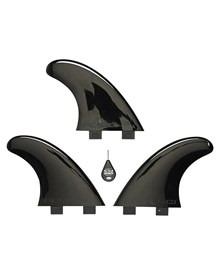 FCS M5 BLACK SOFT FLEX TRI FIN SET - BLACK
