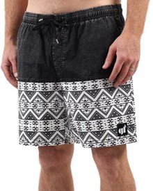 GRAND FLAVOUR Aztec Shorts - Black