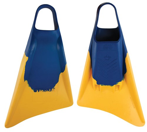 STEALTH S3 FINS - Blue / Sun Gold