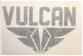 VULCAN Fins - Die Cut Sticker - Black