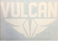 VULCAN Fins - Die Cut Sticker - White