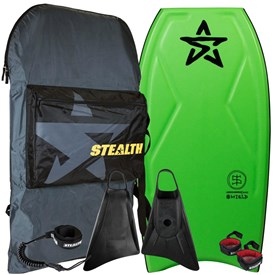 STEALTH BODYBOARDS Shield Polypro Core - 2018/19 Model - Package Deal - Assorted Colours