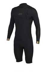 REEFLEX WETSUITS Hardy X2 Series Zipperless 2/2mm Long Sleeve Springsuit - Black/ Gold - Winter 2017 Range