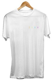 ZION WETSUITS Rainbow Zion T Shirt - White