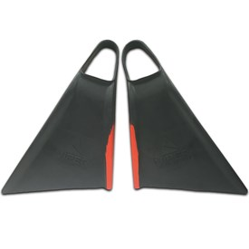 Viper Delta Bodyboard Fins - Charcoal/ Red