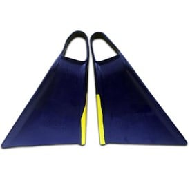 Viper Delta Bodyboard Fins - Royal Blue/ Yellow