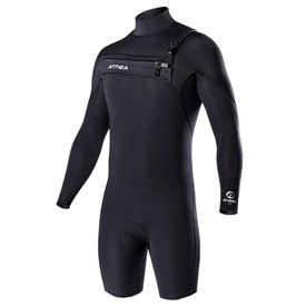 ATTICA Wetsuits - Omega GBS 2/2mm Long Sleeve Springsuit - Black/ White - 2017/18 Summer Range