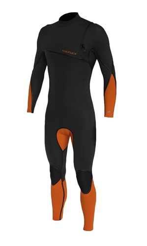 REEFLEX WETSUITS Gen X 3/2mm GBS Zipperless Sealed Steamer - Graphite/Orange - 2016/17 Summer Range