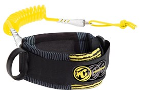 CREATURES OF LEISURE Ryan Hardy Bicep Leash - Black/Yellow (Grey/Yellow Cuff)