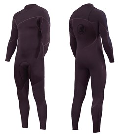 ZION WETSUITS Cortez 4/3mm Liquid S-Sealed Zipperless Steamer - Dark Plum -  Winter 2018 Range