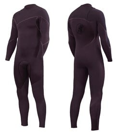 ZION WETSUITS Cortez 4/3mm Liquid S-Sealed Zipperless Steamer - Dark Plum - 2nd Winter 2017 Range