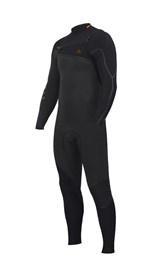 ZION WETSUITS Yeti 3/2.5mm Liquid S-Sealed Chest Zip Steamer - Graphite / Black - Winter 2016 Range