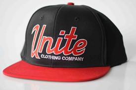 UNITE Federation Snap Back Hat - Black/ Red