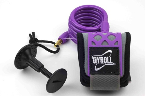 GYROLL Wrist Leash - Purple Coil / Cuff