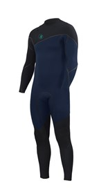 ZION WETSUITS Yeti 4/3mm Liquid S-Sealed Zipperless Steamer - Navy / Black - Winter 2016 Range