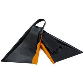Viper Delta Bodyboard Fins - Black/ Orange